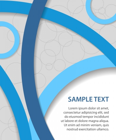 report cover design: blue business background with circles