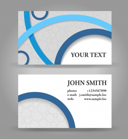 Blue and gray modern business card template