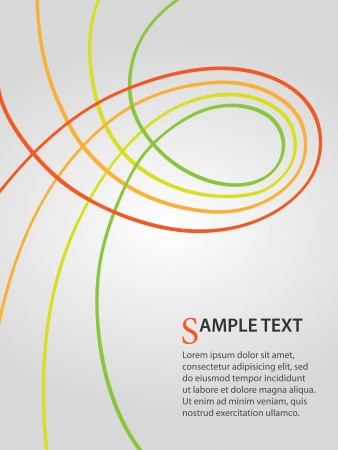report cover design: business background with green and orange curves