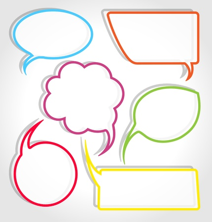 message bubble: Colorful speech bubble frames