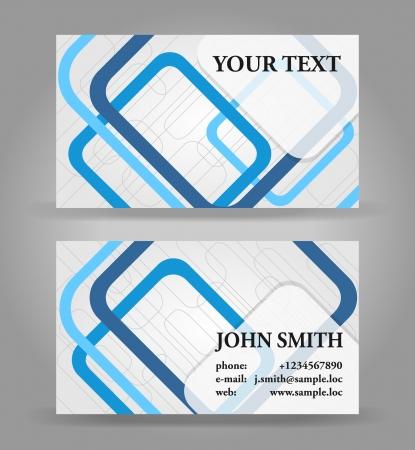 tarjeta de presentacion: Azul y gris de negocios moderno plantilla de tarjeta