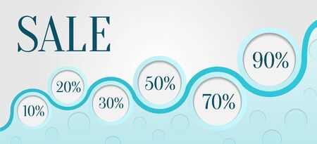 Blue horizontal sale banner Vector