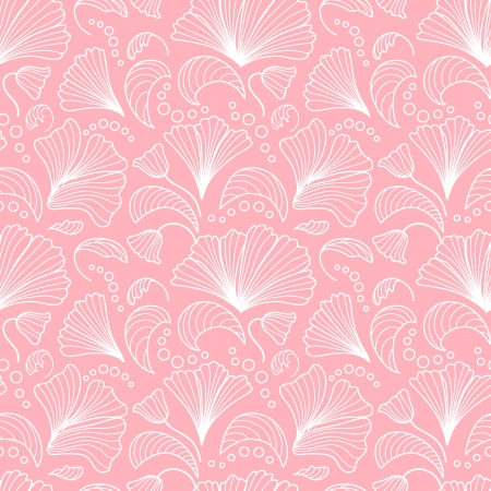 Pink seamless floral pattern Stock Vector - 14956980