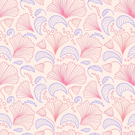 Pink and violet seamless pattern Vector