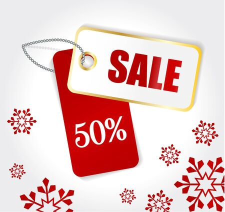 Winter Sale Tag Vector