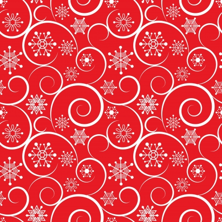 Winter red christmas seamless background Vector