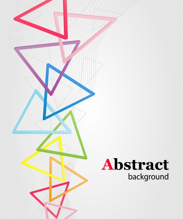 Abstract background with multi colored triangles Stock Vector - 15159153
