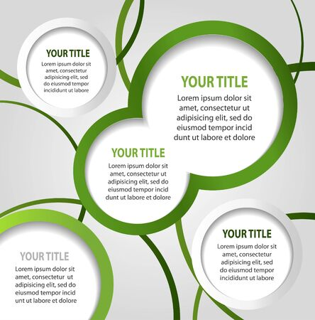 Green and white abstract banners Vector