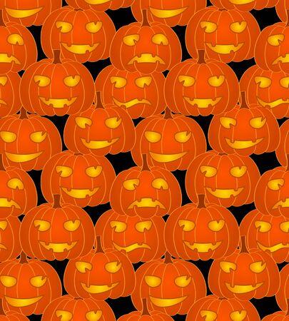 Halloween pumpkins - seamless pattern Stock Vector - 15159160