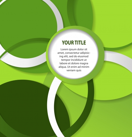 Abstract green background with circles and rings Vector