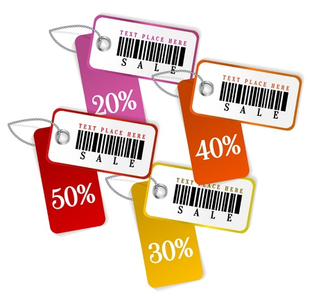 sale tags: Set of isolated sale tags  Vector template