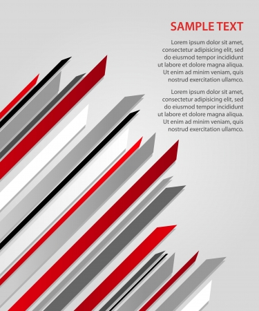 Business background with pointed colored stripes Vector