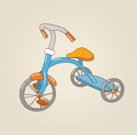 Kid s tricycle, vector illustration Stock Vector - 15588829