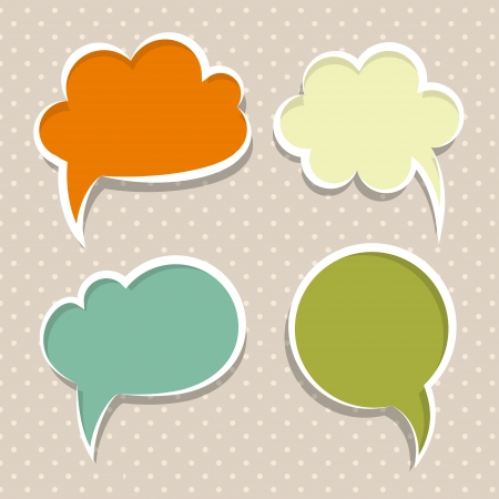 chat bubble: Set of colorful speech bubbles