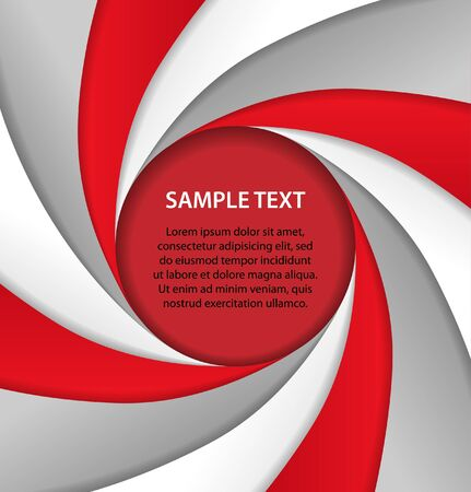 Red and gray background with bubble, vector Vector
