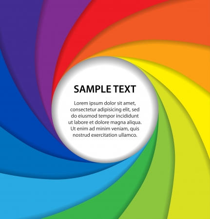 Rainbow paper layers with white bubble Stock Vector - 15844821