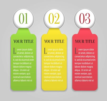 One, Two, Three paper progress labels  Vector Stock Vector - 15844824