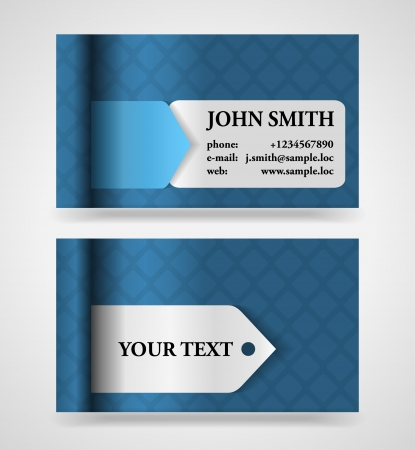Modern blue and gray modern business card template Stock Vector - 16363866