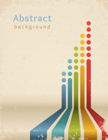 poster concepts: Colored stripes with circles, vector  Grunge design template