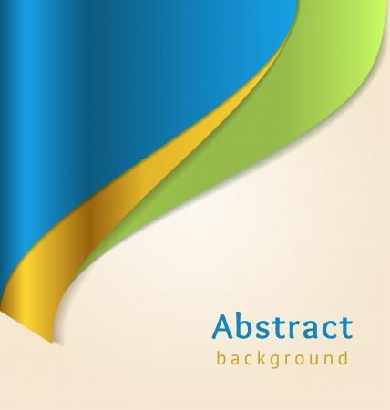 Blauw en goud zakelijke achtergrond, vector