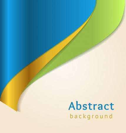 Blue and gold business background, vector