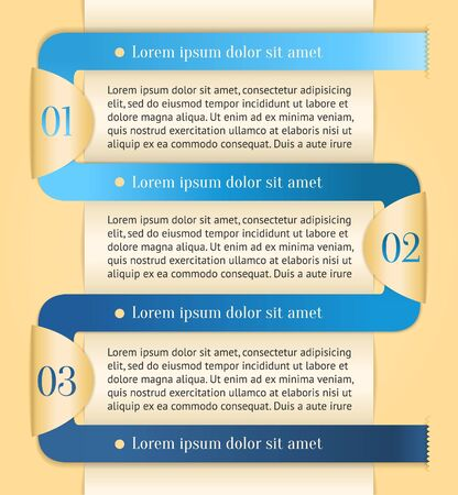 out of order: Golden modern color design template with blue stripe  Can be used for infographics, presentation, promotion