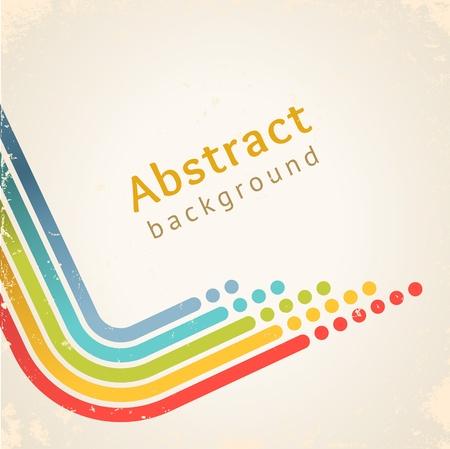 Gekleurde strepen met cirkels, vector ontwerp sjabloon Stock Illustratie
