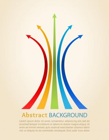 sales trend: Colored arrows, Design template
