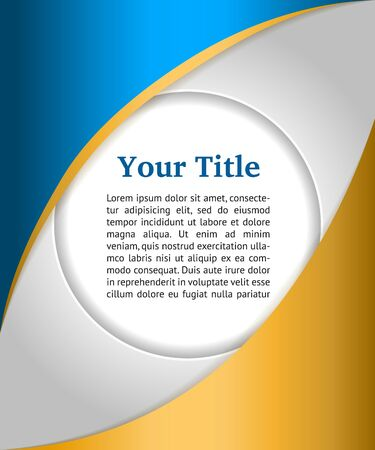 Blue and gold business background with bubble,  Illustration
