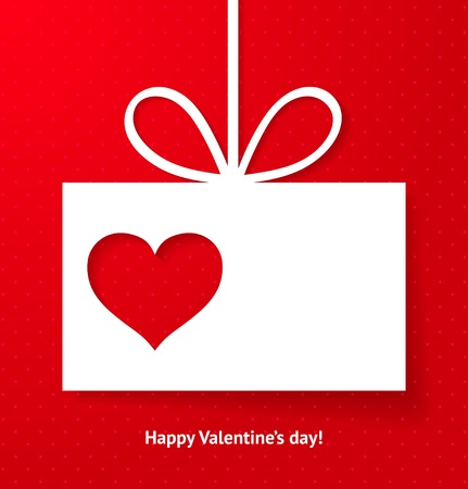 Valentine s applique card background  illustration for your design  Vector