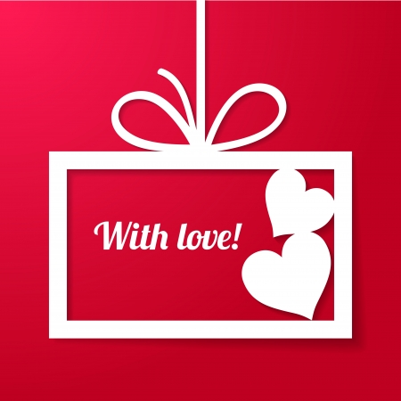 Valentine s applique card background  Frame with two hearts and place for your text Stock Vector - 16968736