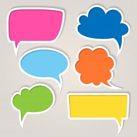 burbuja: Conjunto de burbujas coloridas del discurso