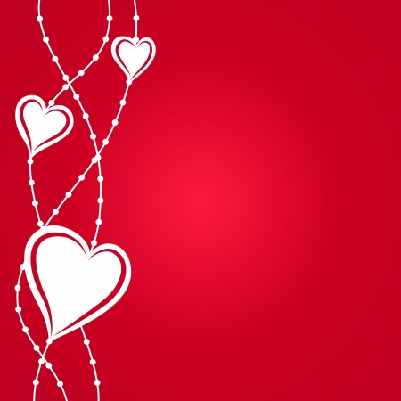 happy valentine s day: Red background with hearts