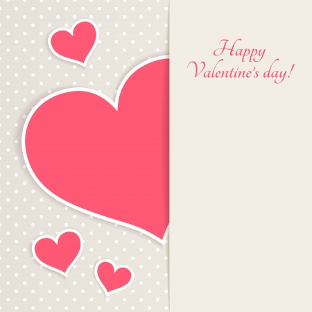 valentine s card: Greeting card for Valentine s day with place for your text Illustration