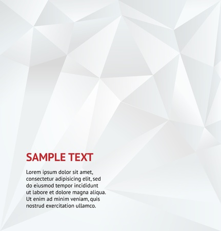 Abstract white geometric background  Vector Illustration Vector