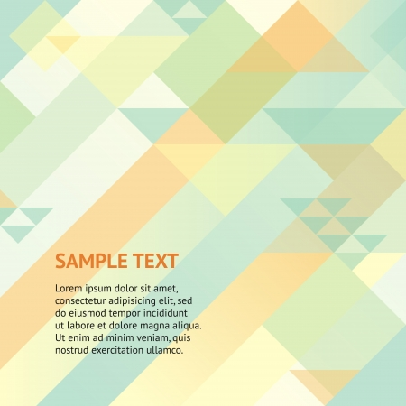 Abstract retro geometric background with triangles and space for your message  Design template for your presentation, brochure and etc