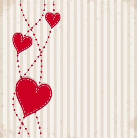 Vintage achtergrond met harten