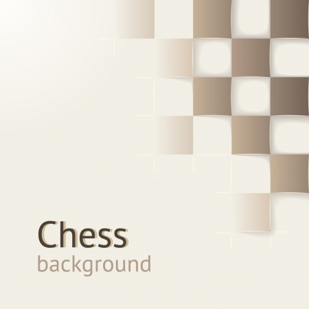 Chess background with drop shadows   concept  Design template for your presentation, brochure and etc  Vector