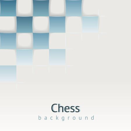 Chess background with drop shadows   concept  Design template for your presentation, brochure and etc Stock Vector - 17794871