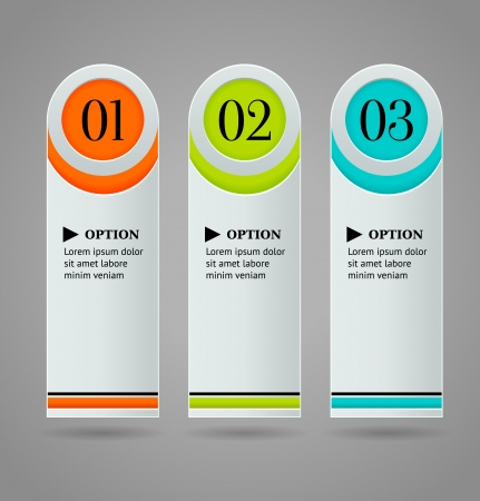 Vertical colorful options banner template   illustration Vector
