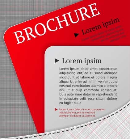Modern brochure design template