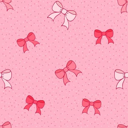 moño rosa: Patrón rosa transparente con lazos de colores
