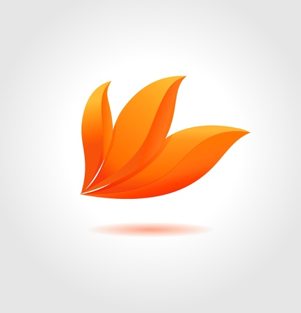 Orange flower  Abstract flower symbol for your business Vector