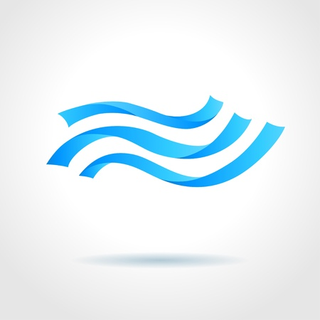 Abstract blue water wave on gray background creative concept