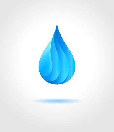 � gua: Gota de água azul abstrato on gray background Vector criativo conceito