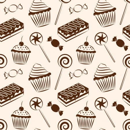 chocolate chip: Sweet seamless pattern, vector