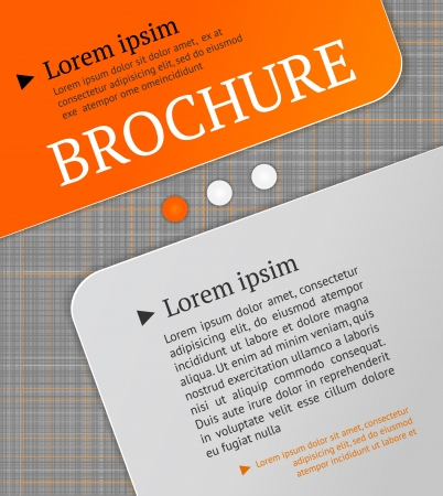 Modern brochure design template  Lined texture - seamless pattern Vector
