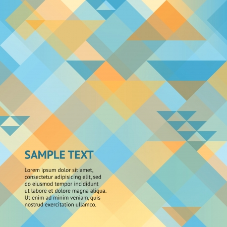 Abstract geometric background with squares and triangles