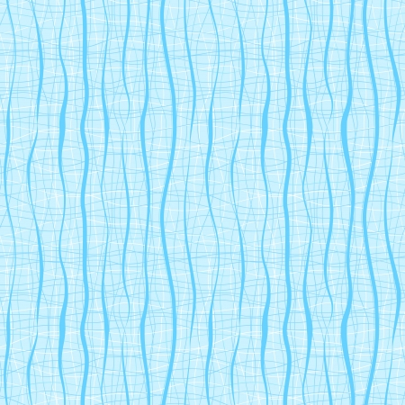 Vertical blue wavy stripes and lines  Retro seamless pattern Vector