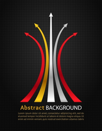Colored arrows on black background design template Stock Vector - 19497408